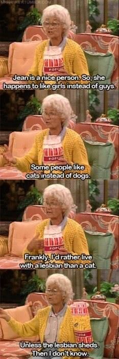 Estelle Getty as Sophia Petrillo on Golden Girls