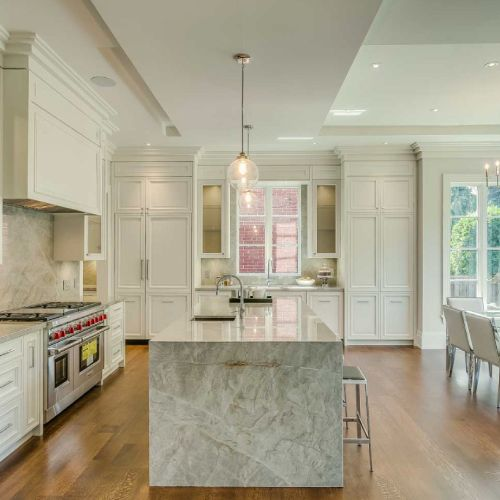 Residential architecture by Toronto architect, Lorne Rose. These images are of a property in the Forest Hill neighbourhood of Toronto. #architecture #toronto #luxury #home #renovation #residentialarchitect #architect #modern #foresthill #interior #design #decoration #interiordesign #interiordecorating #kitchen #marble #lighting