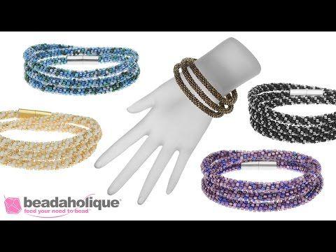 Instructions for Making the Beaded Kumihimo Wrap Bracelet Kit - YouTube