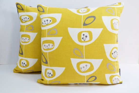 John Lewis Mid Century retro print Seedhead cushion by Andshine
