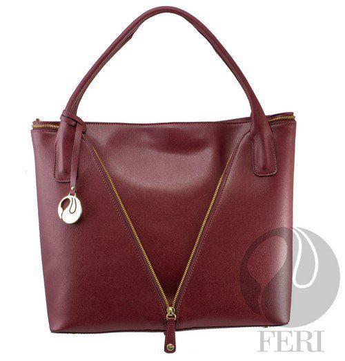 Genuine leather handbag with zipper detail C$3,037 http://bit.ly/1SL570G