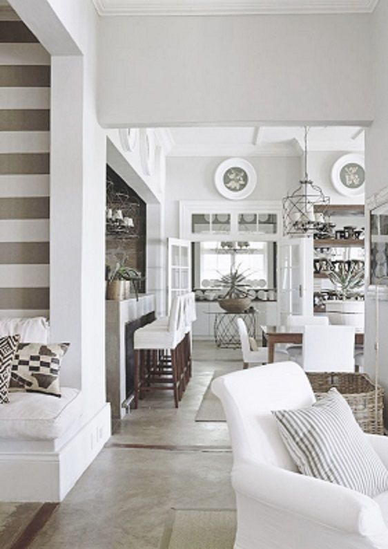 love the grey and white beach house