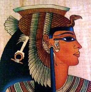 Ancient Egypt Cleopatra | Queen Cleopatra, the last Pharaoh of ancient Egypt, used bright red ...