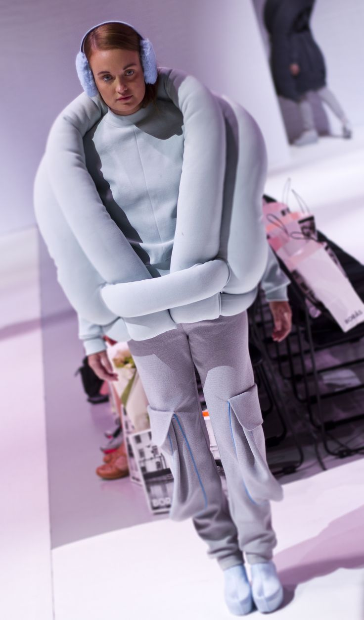 """Fashion photo by Sampo Axelsson. Collection: Hanna Freese, """"Padded Units"""" 2013."""