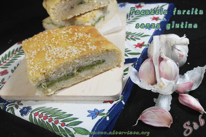 Focaccia ripiena #vegan #senzaglutine preparata on farine naturali e lievito madre gluten free