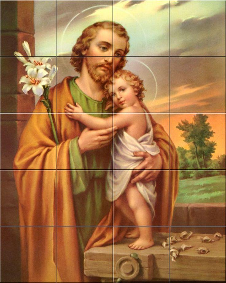 Saint Jose Religious catholic Decorative Ceramic Tile Murals