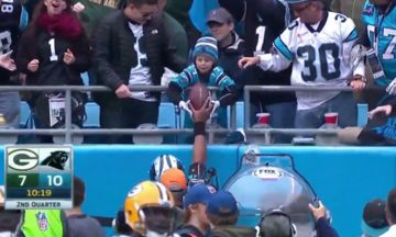 Cam Newton Gifts Football To Young Fan Whose Father Just Died