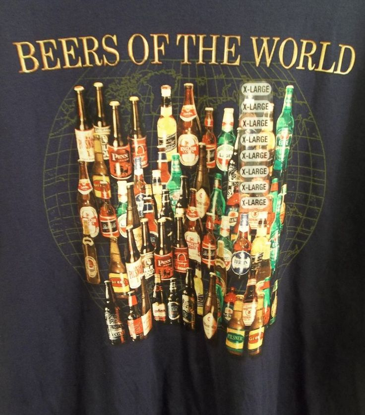 Beers of the World T-Shirt Adult XL X-Large Lifestyle Classics New with Tags #Classics #BasicTee