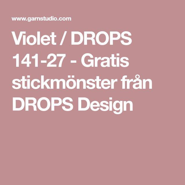 Violet / DROPS 141-27 - Gratis stickmönster från DROPS Design