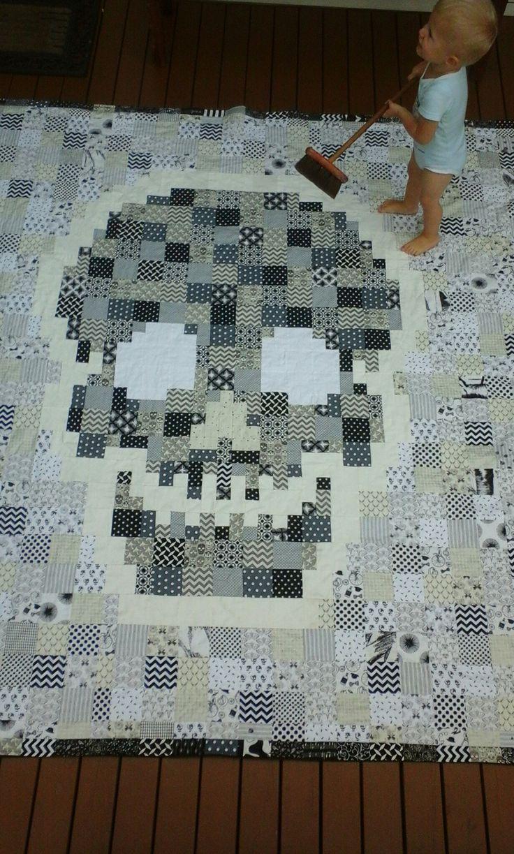 Skulls quilt