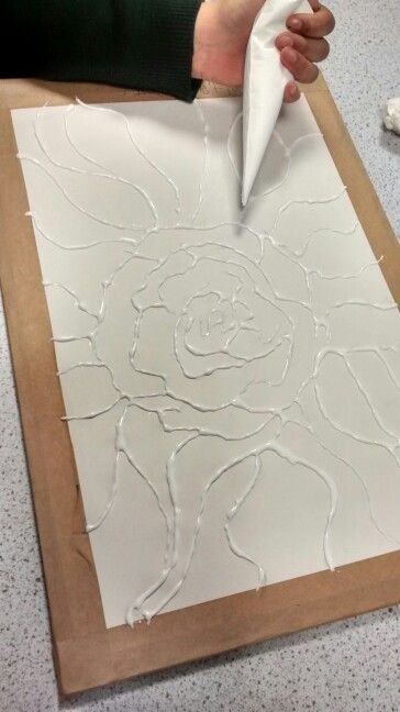 Glue relief art work