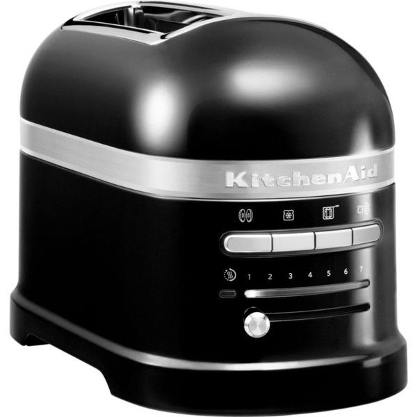 KITCHENAID Onyx black artisan 2 slot toaster (2 135 SEK) ❤ liked on Polyvore featuring home, kitchen & dining, small appliances, two slice toaster, kitchenaid toaster, 2 slice toaster, kitchen aid small appliances and sandwich toaster