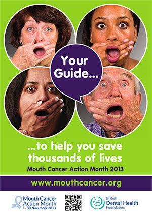 Official Mouth Cancer Action Month Campaign Poster: Now, you can download the MCAM 2013 poster. It could be a good product for you to decorate your events or simply to express your support to the campaign. For your convenience, we provide you with the A3 poster in two formats: Online and Print-ready. #MCAM #MouthCancerActionMonth #OfficialGuide