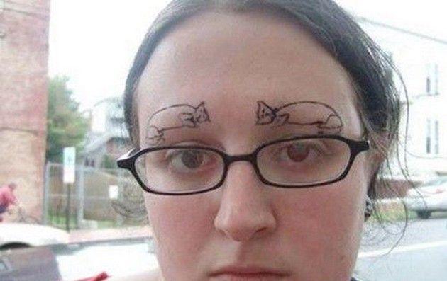 Funny & Strange Eyebrows (12 Pics)