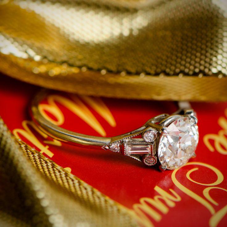 A beautiful 1.40 Carat Old European Cut Diamond Engagement Ring.