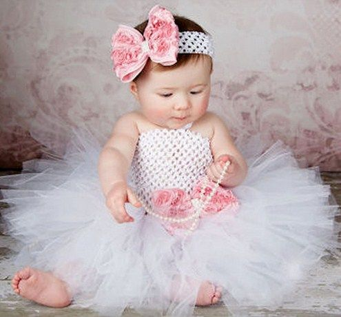 Holiday Flower Double Layers Fluffy Baby Dress