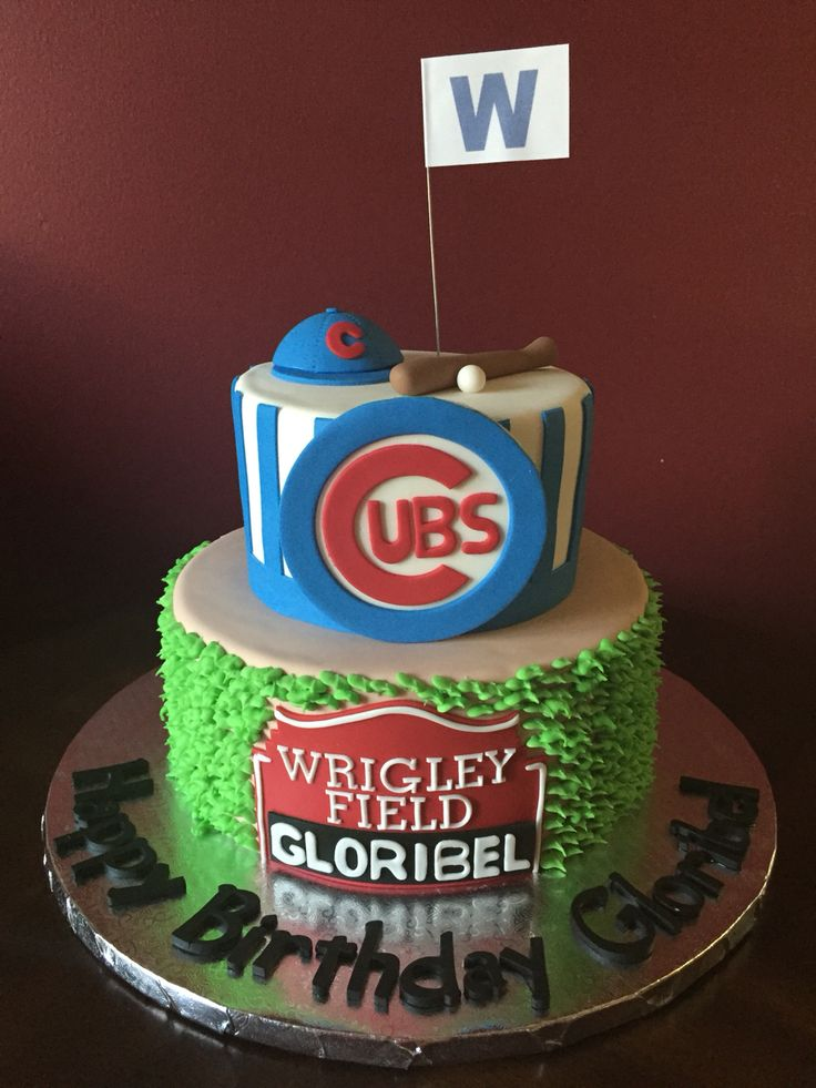 cubs birthday cake 34 best chicago cubs cakes images on chicago 3222