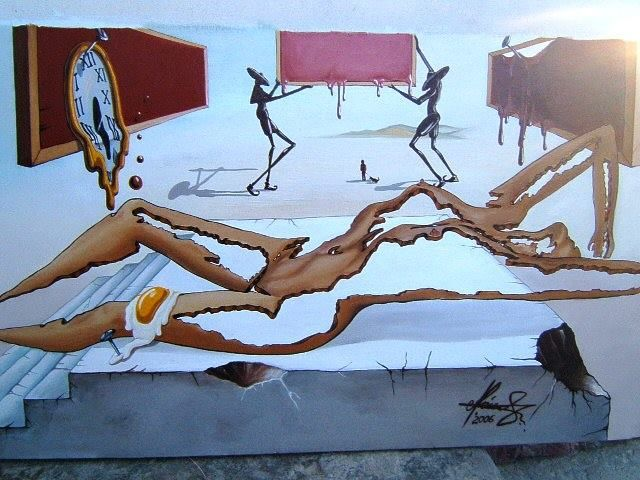 """""""Pieces of a Dream"""" - Oil on canvas.   #art #painter #painting #surrealism"""