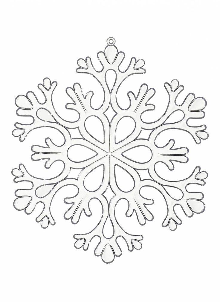 Coloriage de flocon de neige dessins colorier - Dessin guirlande de noel ...