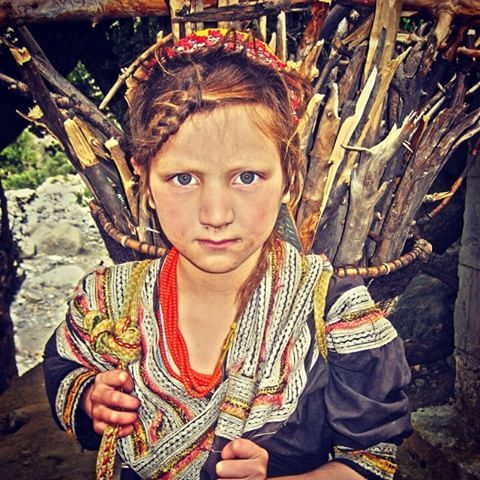 A young Kalash girl, from Rumbur valley, Pakistan, 2007. The Kalash are an ethnic minority in Pakistan, whose culture (and religion) is very different from our typical 'stereotype' of Pakistan. #travel #pakistan #kalash #portrait #nikon #flashback #rumburvalley #stereotypes #girl #lonelyplanet #2007
