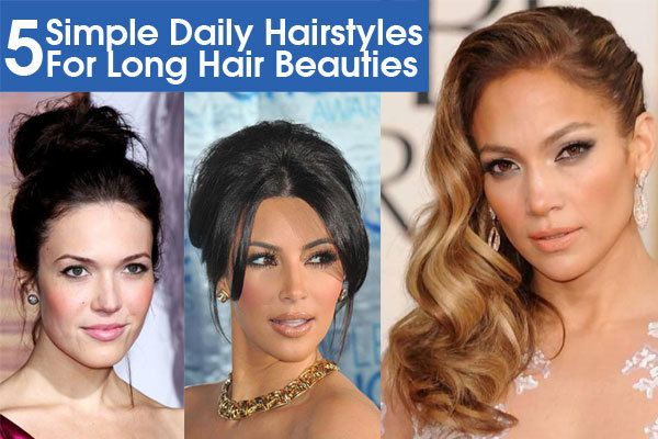 Easy To Manage Hairstyles For Long Hair : Ideas about daily hairstyles on simple