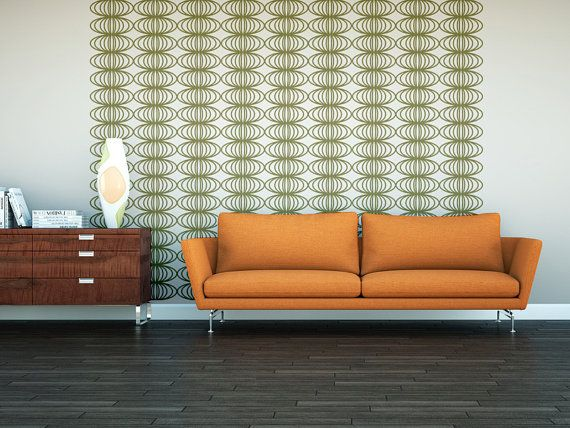 Wall Decals Retro Geometric Mod Mid Century Modern Pattern Abstract Mad Men Decor Circles Shapes on Etsy, $230.00