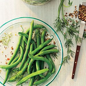 Quick Pickled Dilly Green Beans | Recipe | Green Beans, Beans and ...