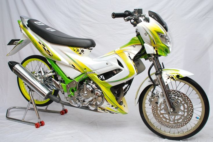 gambar foto modifikasi motor satria fu 2005