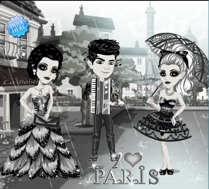 Who doesn't love Paris? The I love Paris theme on #moviestarplanet #MSP www.moviestarplanet.com