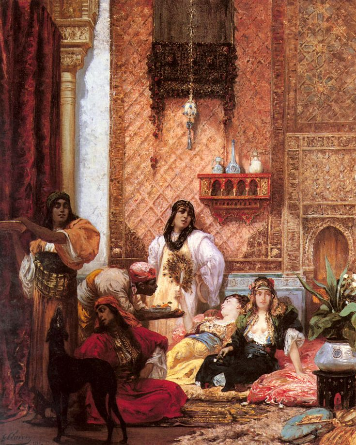 Georges-Jules-Victor CLAIRIN : The Sultans Favorites