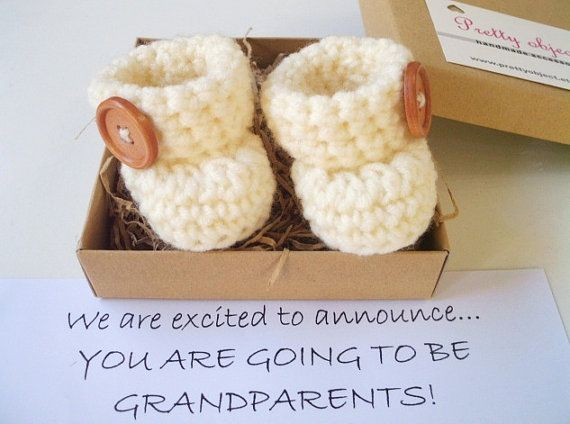 BABY ANNOUNCEMENT GRANDPARENTS Pregnancy Reveal by prettyobject