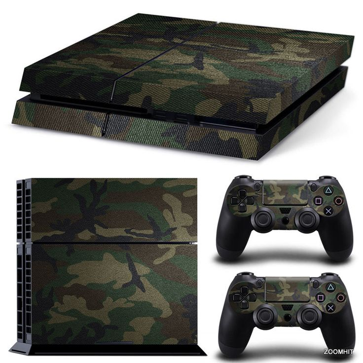 PS4 Playstation 4 Console Skin Decal Sticker Camouflage + 2 Controller Skins Set #ZoomHit