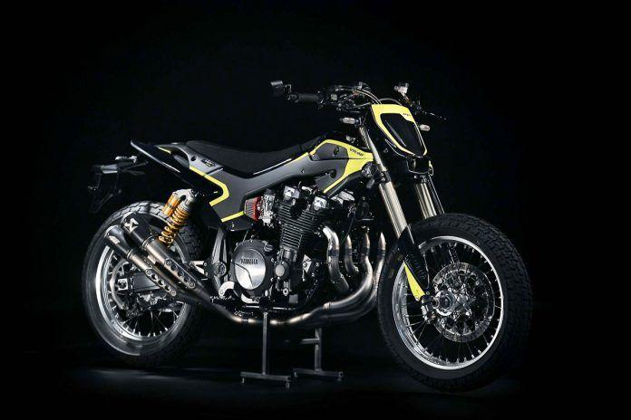 Custom Yamaha Xjr1300 Flat Tracker Valentino Rossi Vr46 8 Valentino Rossi Yamaha Flat Tracker