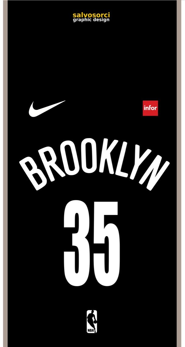 Kevin Durant Brooklyn Nets Nba 35 Shirt Wallpaper Kevin Durant Brooklyn Nets Nba