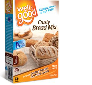 Well and Good Gluten Free Crusty Bread Mix. #wellandgood