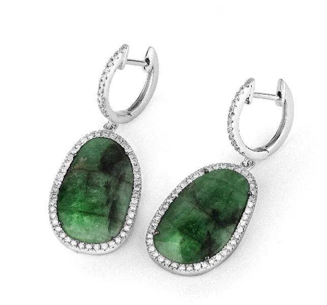 Facet Barcelona natural #emerald earrings