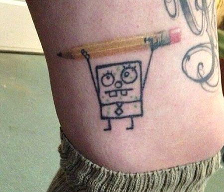 spongebob tattoos sketch