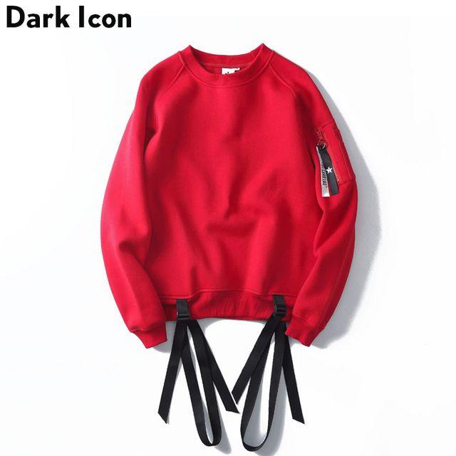 Check current price Ribbon Pullover Fleece Mens Sweatshirts 2017  Streetwear Plain Off Shoulder Hip Hop Sweatshirt Men Women Sweatshirts Red /Black just only $22.40 with free shipping worldwide  #hoodiessweatshirtsformen Plese click on picture to see our special price for you