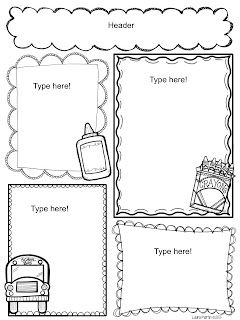 black and white newsletter templates