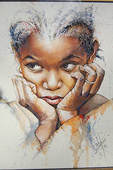 "Bob Graham who won the State Fair's Top Prize this year with ""Little Girl with Braids."""