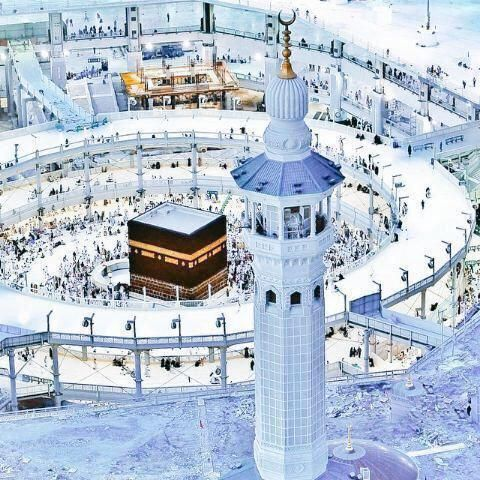 DesertRose,;,The Ka'aba is a cuboid building at the center of Islam's most sacred mosque, Al-Masjid al-Haram, in Mecca, Saudi Arabia. It is the most sacred site in Islam. Wherever they are in the world, Muslims are expected to face the Kaaba – i.e. when outside Mecca, to face toward Mecca – when performing salat (prayer). From any point in the world, the direction facing the Kaaba is called the qibla,;,