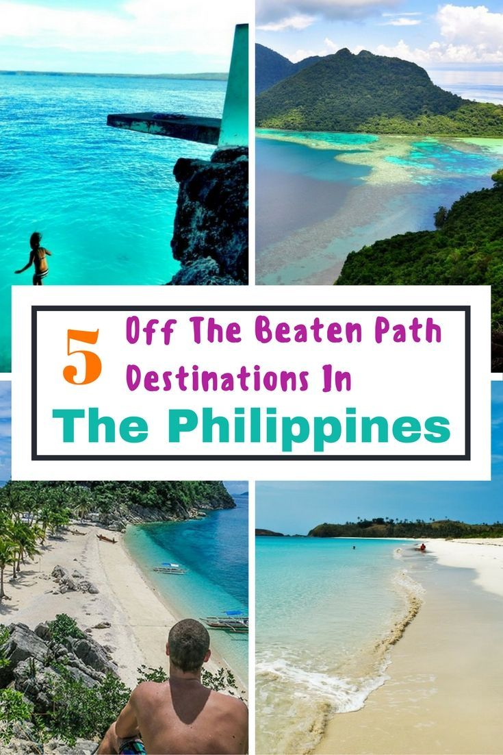 The Philippines is a popular travel destination. Here is 5 off the beaten path places to visit in the Philippines. You won't be disappointed. #philippines #offthebeatenpath