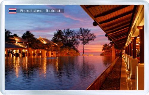 Acrylic Fridge Magnet: Thailand. Phuket Island. Ban Tha Chat Chai