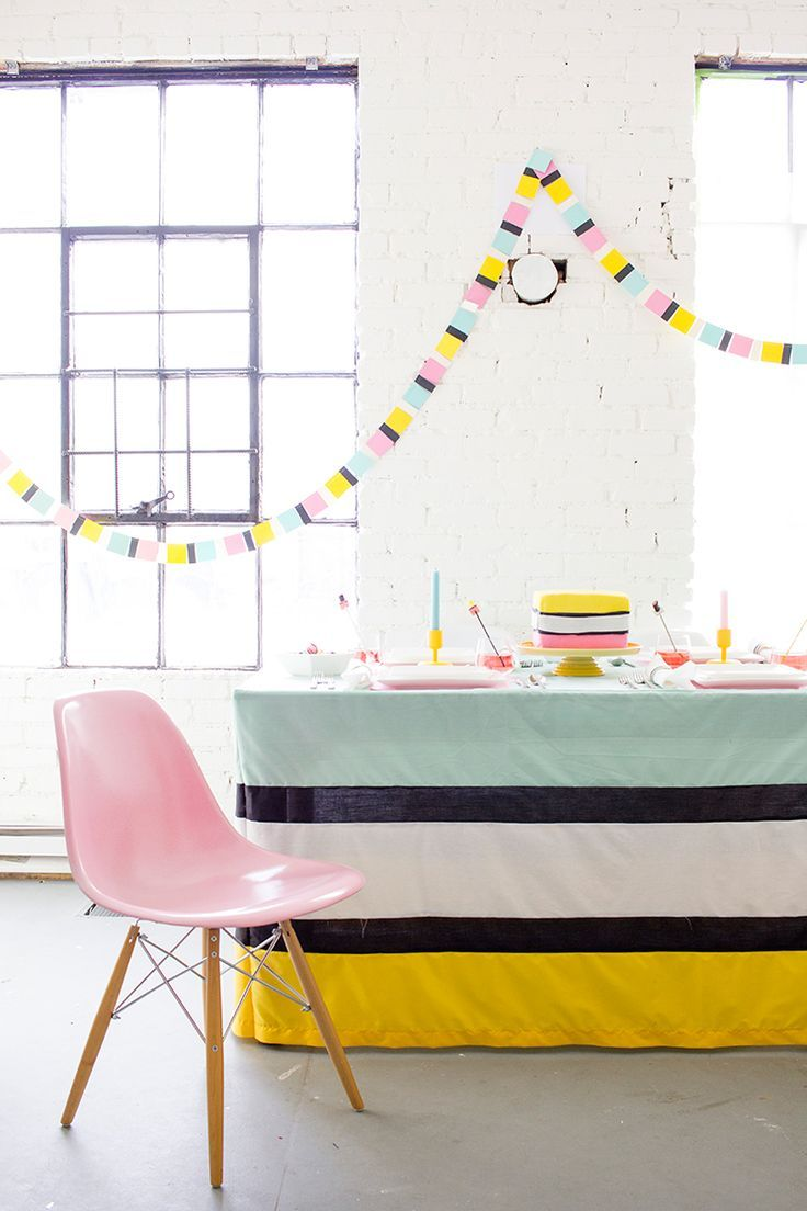 Stripes, bold colors, and DIYs galore? Be the hostess with the most-est this party season! Here's a favorite licorice all sorts party, for all sorts! #party #diy #craft
