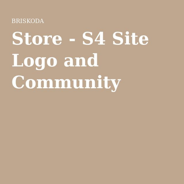 Store - S4 Site Logo and Community