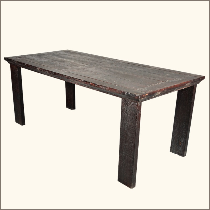 Nottingham Primitive Rustic Hardwood Dining Table