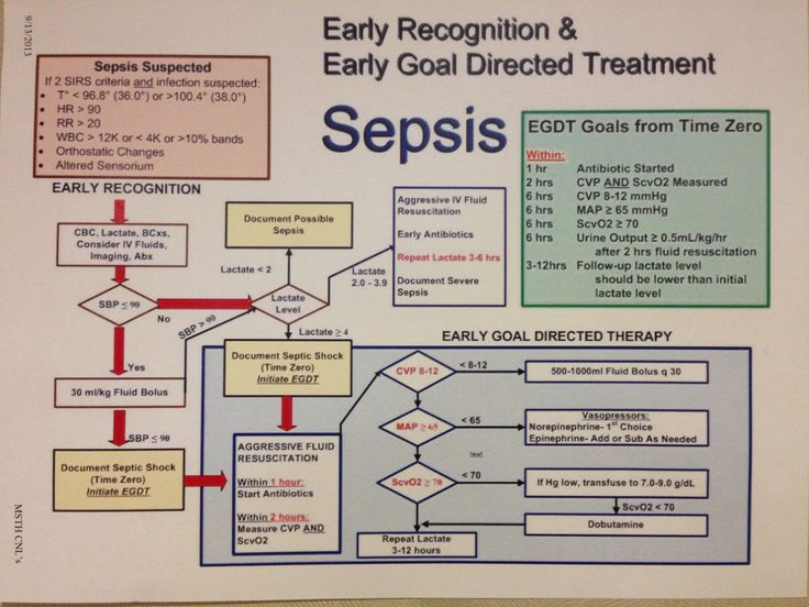Early detection and early goal directed treatment for sepsis
