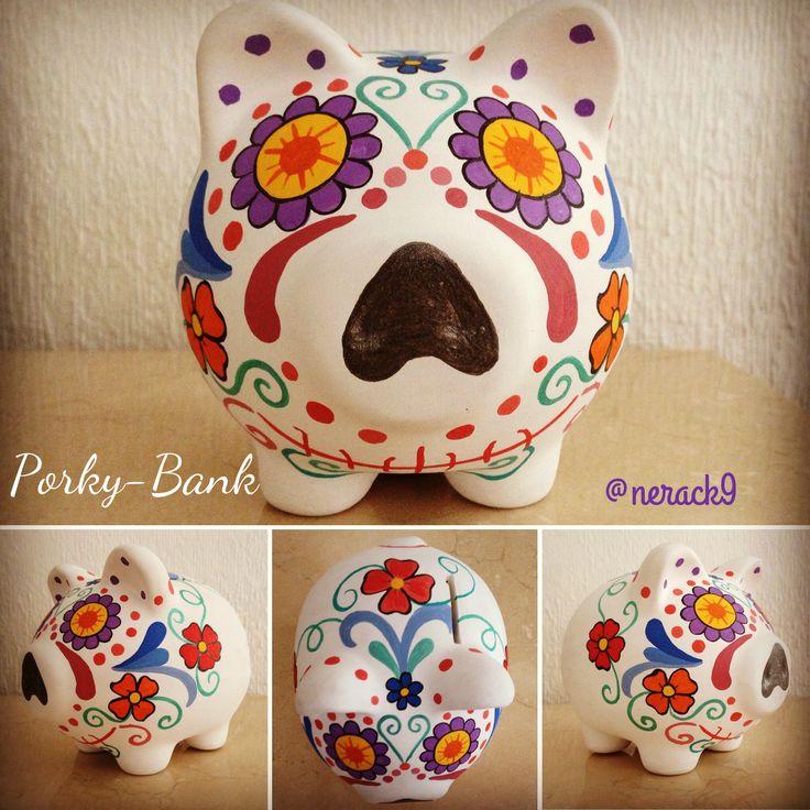 **/ Dia de los Muertos piggy bank!!