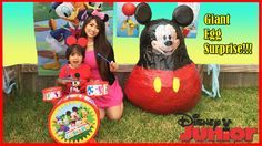 nice Disney Junior Videos WORLD BIGGEST GIANT EGG SURPRISE OPENING Mickey Mouse Clubhouse Minnie toys