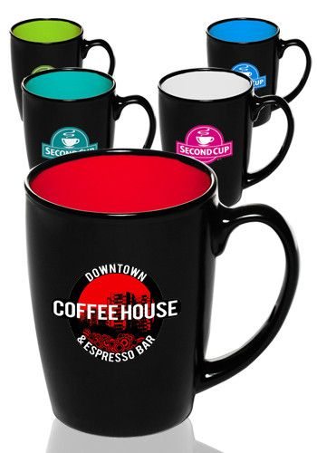 d78f64e6777 12 oz. Java two-tone coffee mugs in bulk cheap wholesale prices. Get these customized  coffee mugs personalized & custom printed or engraved with logos or ...